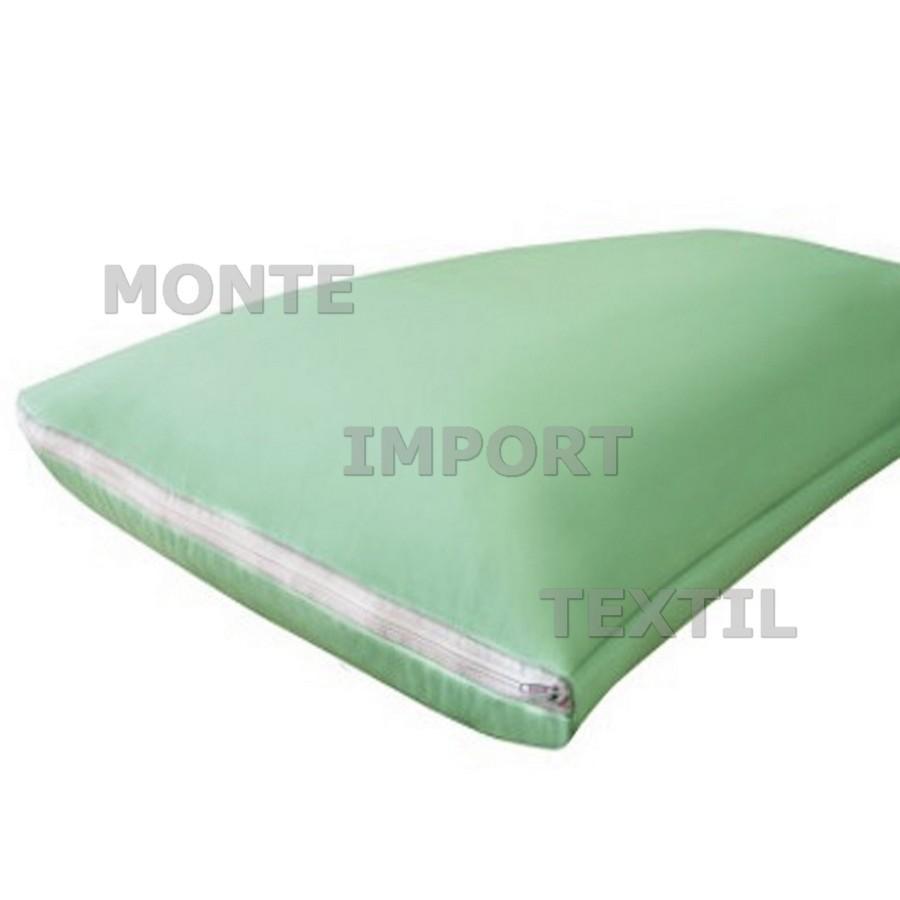 prot ge oreiller blanc imperm able avec fermeture clair en polyur thane polyester monteimport. Black Bedroom Furniture Sets. Home Design Ideas