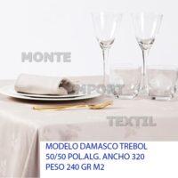 16 manteleria modelo damasco trebol para restaurante y hosteleria caminos manteles cubres blanco o en color en 50 poliester 50 algodon de cualquier medida