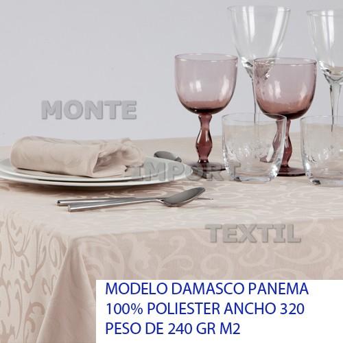 18 manteleria modelo panema para restaurante y hosteleria caminos manteles cubres de saten blanco o en color en 100 por cien poliester de cualquier medida