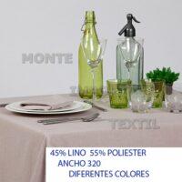19 manteleria modelo 40 por ciento lino 60 por ciento poliester para restaurante y hosteleria caminos manteles cubres blanco o en color de cualquier medida