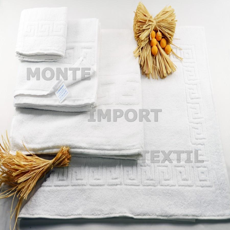 2 toalla con greca 90 por ciento algodon 10 por ciento poliester de 450 gramos rizo convencional