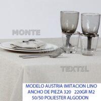 manteleria modelo austria imitacion lino para restaurante y hosteleria caminos manteles cubres blanco o en color en 50 poliester 50 algodon de cualquier medida