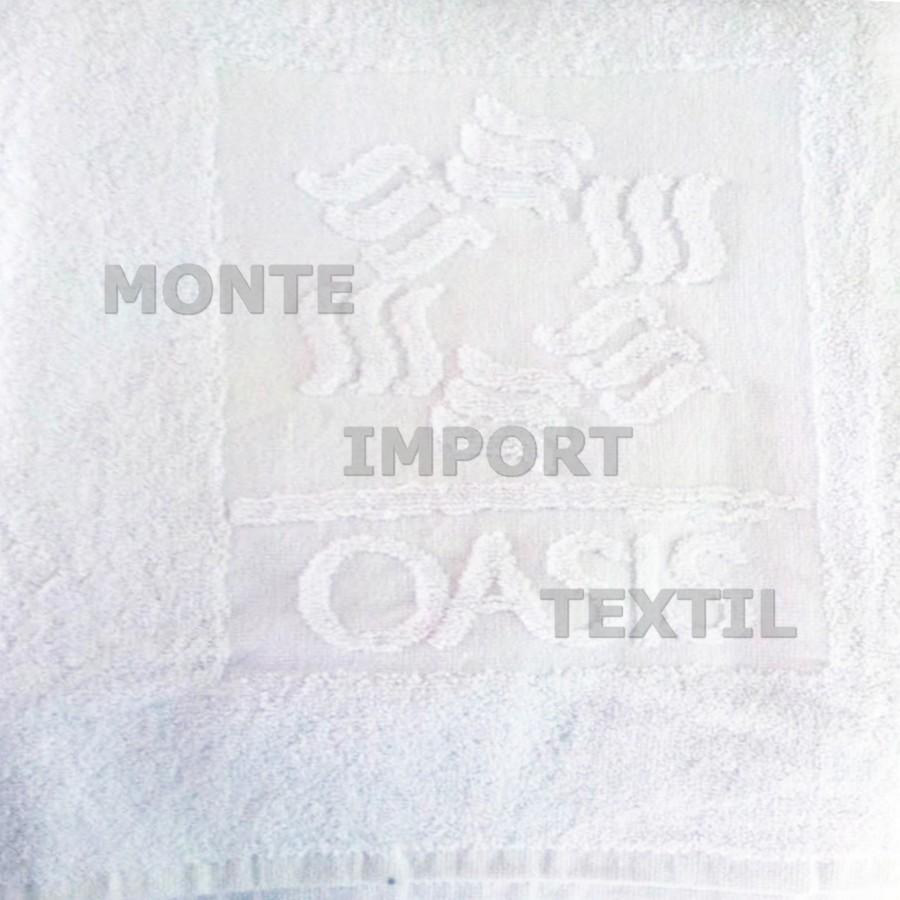 toallas de rizo convencional con logo en blanco de algodon reprocesado en cualquier medida
