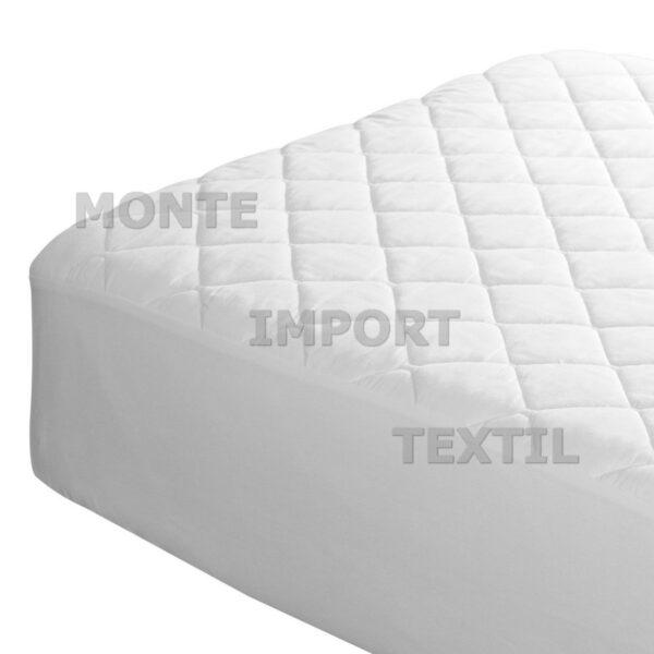 Detalle protector de colchón de tela/napa/tela